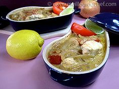 Cocotte de lotte au curry et lait de coco