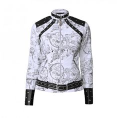 Everleigh Olivia Jacket | Vintage Goth | This white jacket's intricate pattern and amazing design is on its way to become a legendary icon! As you can see this item stands out from the crowd and will keep your personal style the finest around every time you have it on!