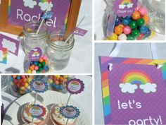Printable Rainbow Birthday Invitations ~ Rainbow birthday party packageincludes by dimpleprints on etsy