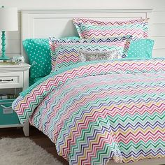 Color Me Zig Zag Duvet Cover + Sham #pbteen. Another idea for Rylie's room?