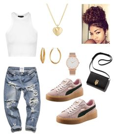 """""""Everyday """" by campaigndessie on Polyvore featuring Finn, Larsson & Jennings, Diane Von Furstenberg, Topshop, Puma, women's clothing, women, female, woman and misses"""