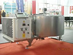 "500 lt Milk Cooling Tanks Product Code : BSST-D-500 L ""Vertical cylindrical model, entirely from AISI 304 quality stainless steel manufacturing. ""Hinged lid is one piece ""Cooling evaparator (roll-bont) has tested against 40 bar test pressure. ""1. Body 2  mm and isolated body is 1.5 mm AISI 304 quality stainless steel , Insulation range is 50 mm with polyurethane without CFC. ""Adjustable pedestal. ""Cooling group is on the same chassis with cooling tanks, 404 gas is used. ""0,37 kw, 33 d/d…"