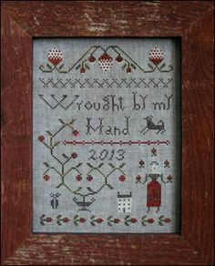 Great cross stitch sampler for the prim sisters club.