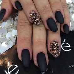 For some reason these nails remind me of the song dark horse by Katy perry