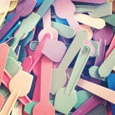 Pastel ice cream spoons