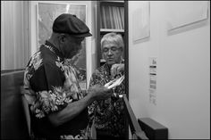 Magnum PhotosGuy Le Querrec SWITZERLAND. Montreux Jazz Festival. July 7th, 2012. The American blues guitarist and singer Buddy Guy and the Montreux Jazz festival founder Claude Nobs at the Chalet, where Claude