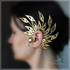 gauged ear plugs earrings talons for stretched piercings - Green Sprouts - Custom Jewelry Ideas Cuff Jewelry, Jewelry Accessories, Women Jewelry, Jewelry Design, Fine Jewelry, Skull Jewelry, Hippie Jewelry, Jewellery, Prom Earrings