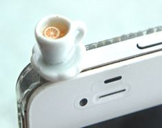 starbucks coffee phone plug-phone accessories dust plug dust