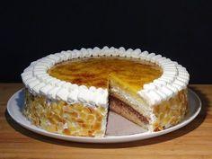 Tarta San Marcos (Sin lactosa), riquísimo bizcocho mojado con almíbar y relleno de nata y trufa y con una deliciosa crema de yema tostada por la parte de arriba, esta tarta hará las delicias de toda la familia y además sin lactosa para que todos puedan disfrutarla!!!! . Receta en mi Blog: http://lacocinadelolidominguez.blogspot.com.es/2015/08/tarta-san-marcos-sin-lactosa.html Videoreceta:  https://www.youtube.com/watch?v=5mXFwA-l0qY