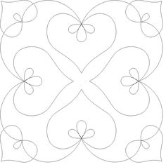 Machine Quilting Templates for Beginners Quilting Stitch Patterns, Machine Quilting Patterns, Quilt Patterns Free, Machine Embroidery Designs, Embroidery Patterns, Vintage Embroidery, Hand Embroidery, Embroidery Hearts, Embroidery Sampler