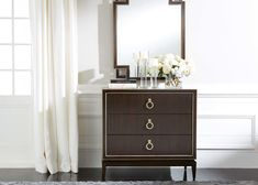 Powell Three-Drawer Chest | Wood 3-Drawer Chest at Ethan Allen | Ethan Allen