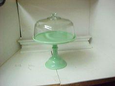 Mosser Glass Jadeite 12.25 Pedestal Cake Plate with Dome ...