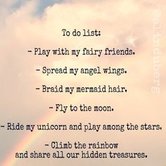 My version of the list of most important everyday-things-to-do.