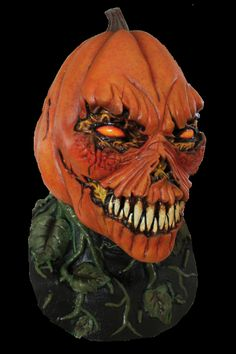 This Mask Depicts A Sinister Looking Pumpkin With Sharp Teeth And A Rather Evil Smile. Like A Classic Jack-O'-Lantern, This Mask Features A ...