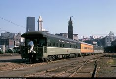 RailPictures.Net Photo: Northern Pacific office car at Seattle, Washington by Bob Krone