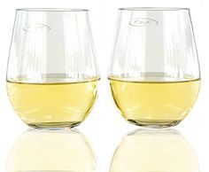 KatyK Stemless Wine Glasses 19 oz Clear Set of 4 ** You can find out more details at the link of the image.