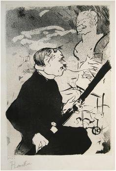 Henri de Toulouse-Lautrec - Pour Toi!... (For You!) (Désiré Dihau with his Bassoon) - R. E. Lewis & Daughter  date