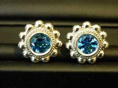 STEPHEN-DWECK-STERLING-SILVER-BLUE-TOPAZ-CLIP-ON-EARRINGS  $48.00