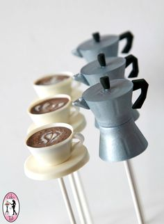 Moka-pot Cake-pops with Cappuccino flavored Cappuccino Cupcake-pops- Cakes by Tali