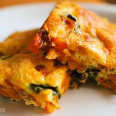Slimming Eats Sweet Potato and Spinach Frittata - gluten free, dairy free, paleo, vegetarian, Slimming World and Weight Watchers friendly Slimming World Dinners, Slimming World Breakfast, Slimming Eats, Slimming World Recipes, Easy Healthy Recipes, Veggie Recipes, Vegetarian Recipes, Cooking Recipes, Healthy Meals