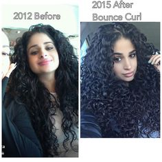 """""""When I used to put moose in my hair versus now that I have been putting #BounceCurl it brings my natural curls out and defines them without weighing my…"""""""