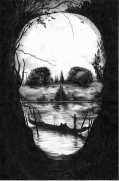 art Black and White depressed depression suicidal photo pain draw picture crazy water skull fear nature mind hide skeleton mad monster bone Demon numb inside painful madness