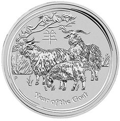 Australian Silver Coin - 2015 One Ounce Year Of The Goat - MintProducts.com