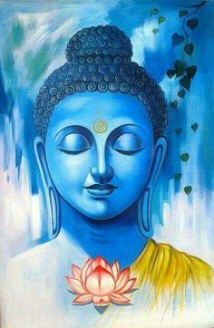 Buddha art painting - 35 Peaceful Gautam Buddha Painting Ideas to Feel Calm – Buddha art painting Budha Painting, Kerala Mural Painting, Krishna Painting, Indian Art Paintings, Krishna Art, Peace Painting, Oil Paintings, Ganesha Art, Acrylic Paintings