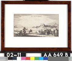 Op den 23 Juny 1641 reedt des Gouverneurs vrouwe uyt het Huys te Gennep - Onbekend - 1641  Maat: 13cm x 25cm  Materiaal: drukinkt op papier  Inventarisnummer: AA649-B