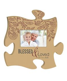 Another great find on #zulily! 'Blessed & Loved' Puzzle Piece Photo Frame by P. Graham Dunn #zulilyfinds