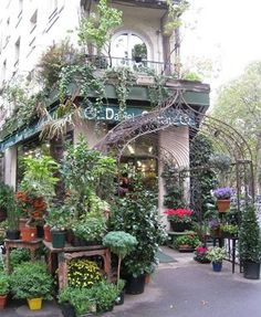 On my stay in Paris my family rented an apartment directly above this gor. On my stay in Pa Shop Facade, Amazing Store, Love Lily, Paris Shopping, I Coming Home, Love Garden, City Landscape, Garden Inspiration, Entrance