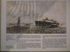"""Beilage zum Puzzle, Abbildung der Radierung von 1929 """"Schnelldampfer Bremen"""""""