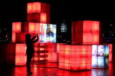 British Artist David Boultbee Lights Up London With Power of Optimism Social Media Installation Tech Hacks, Things To Do In London, Light Installation, Stage Design, Media Design, Optimism, Coca Cola, Light Up, Stuff To Do