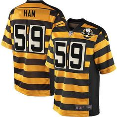 af9a3b3ca00 Nike Limited Ramon Foster Gold/Black Men's Jersey - Pittsburgh Steelers #73 NFL  Throwback