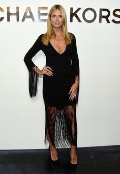 Fashion-Looks: Fransig unterwegs ist Heidi Klum bei der Fashion-Show von Michael Kors in New York.