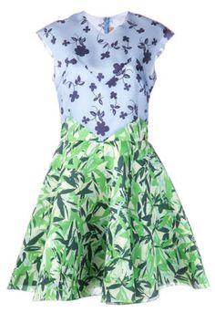 elle sasson floral flarred dress