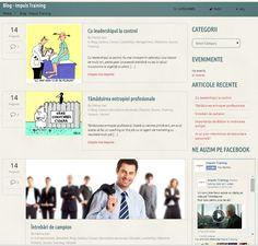 Blog layout page  http://impulstraining.ro/blog/