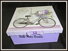 Decoupage, Decorative Boxes, Crafts, Home Decor, Wooden Chest, Decorated Boxes, Handmade Crafts, Organizers, Beautiful Roses