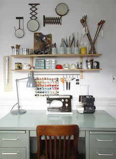 amazingly organized craft desk