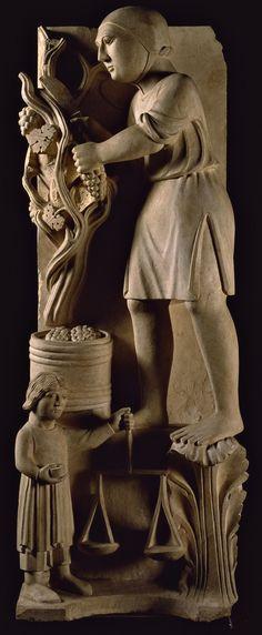 Battistero, Parma, Benedetto Antelami - Settembre - Ciclo dei Mesi, c. 1210-1215