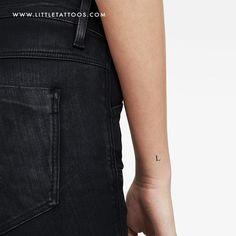 L Uppercase Serif Letter Temporary Tattoo - Set of 3 Tattoo Set, Minimal Tattoo, Serif, Temporary Tattoo, Small Tattoos, Letter Tattoos, Lettering, Icons, Temp Tattoo