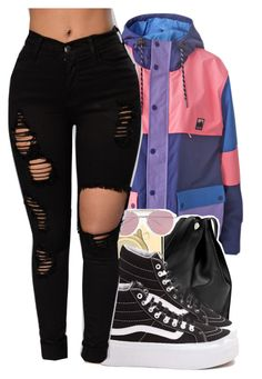 """Untitled #1532"" by toniiiiiiiiiiiiiii ❤ liked on Polyvore featuring Lazy Oaf, Michael Kors, Vans and Boohoo"