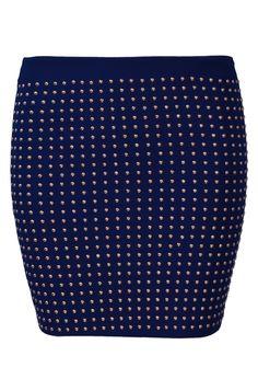 Falda de moda aplique tachuelas-Marino EUR17.83