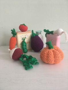 Crochet Food, Play Food, Cotton, Etsy, Amigurumi