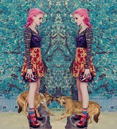 fashionbnb:  Charlotte Free in Wonderland Magazine Dec. 2011