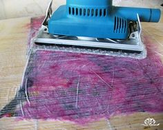 Secrets of wool-felting masters (the entire site is an amazing resource for all things felt! Lots of inspiration there!) Please note safety issues...use a circuit breaker, minimal water, waterproof barriers or better still go cordless!
