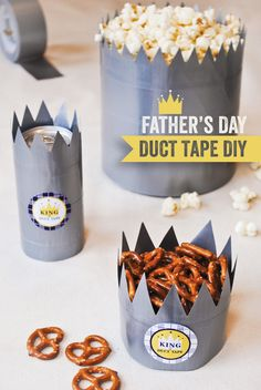 "Father's Day #DIY ""King of Duct Tape"" Treat Crowns -- too funny!"