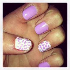 Purple and White simple cheetah nail designs