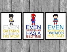 Superhero wall hangings for future baby