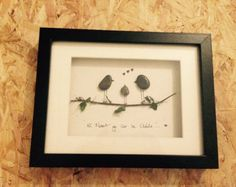 Pebble Art 'Welcome to the nest' small by PebblePebbles on Etsy